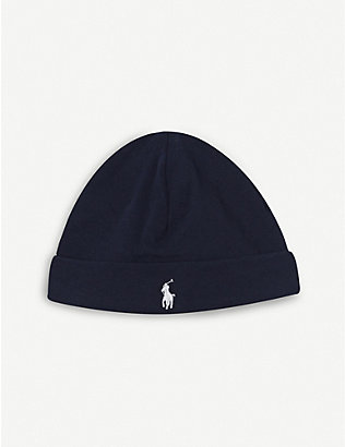 RALPH LAUREN: Cotton beanie 6-24 months