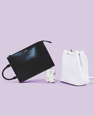 A black and a white Jil Sander bag