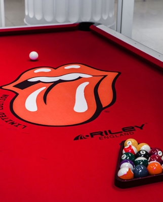 Rolling Stones pool table