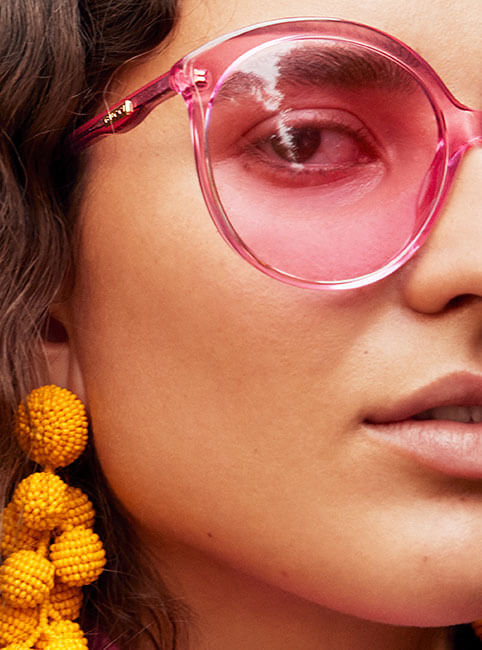 8b56f3786e Anastasia wears pink Gucci - sunglasses   Sachin   Babi - yellow earrings    Elizabeth   James - blazer   Paper London jumper   Awut wears Gucci - blue  ...
