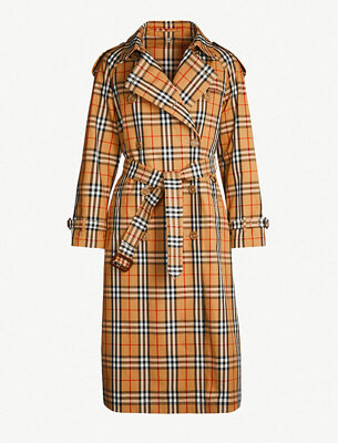 Burberry checked trenchcoat