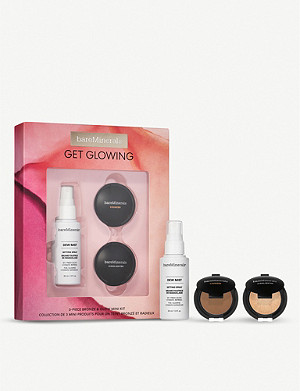 BARE MINERALS Get Glowing 3-piece bronze and glow mini makeup kit