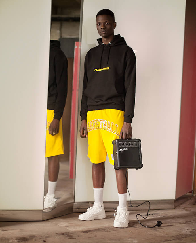 c669f306198 Places + Faces – hoody (coming soon - exclusive to Selfridges)   Basketball  Skateboards – shorts (coming soon)