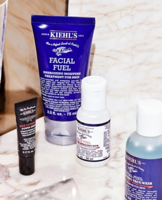 Kiehl's man on a mission set on a table
