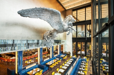 Brasserie of Light Pegasus by Damien Hirst