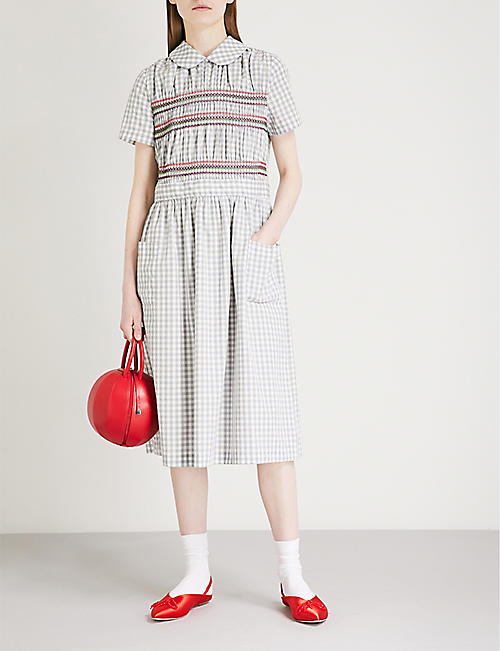 COMME COMME DES GARCONS Gingham cotton dress