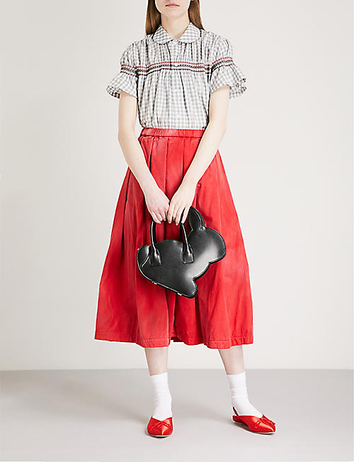 COMME COMME DES GARCONS Faded cotton skirt