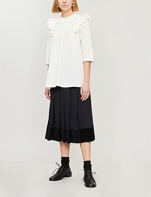 COMME DES GARCONS GIRL Ruffle-trimmed cotton shirt