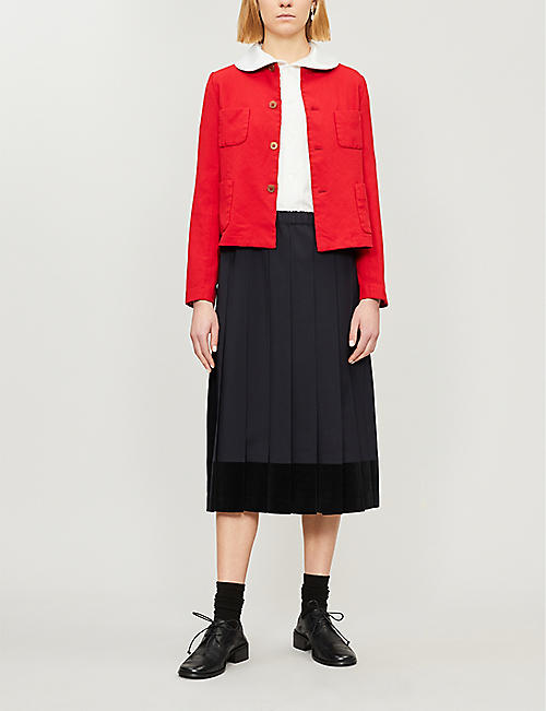 COMME DES GARCONS GIRL Patch-pocket woven jacket