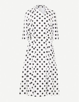 COMME COMME DES GARCONS Polka dot cotton dress