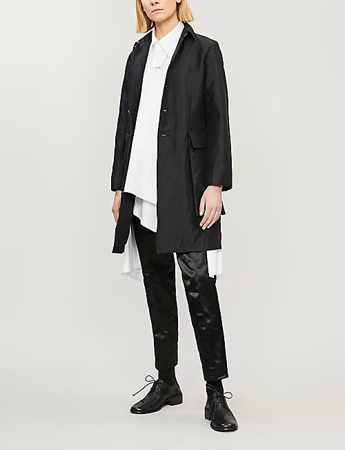 COMME COMME DES GARCONS Exaggerated patch-pocket crepe jacket