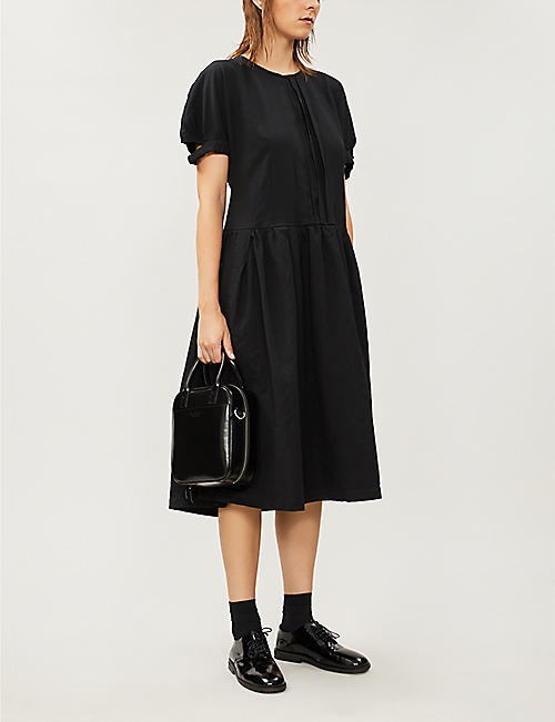 COMME COMME DES GARCONS Pleated woven midi dress