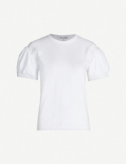 COMME COMME DES GARCONS Puffed-sleeves cotton-jersey T-shirt
