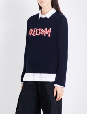 COMME COMME DES GARCONS Freedom wool-blend jumper