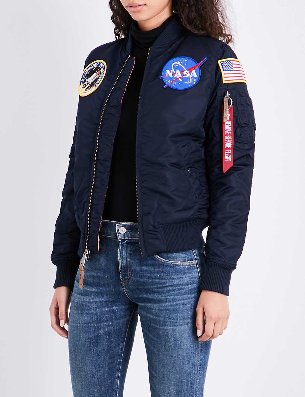 9de1e11c0883c3 ALPHA INDUSTRIES - NASA MA-1 shell flight jacket
