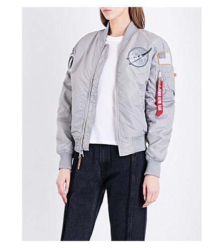 ... ALPHA INDUSTRIES NASA MA-1 shell bomber jacket (Silver. PreviousNext e64784175