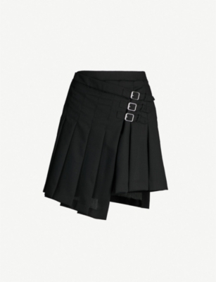 MCQ ALEXANDER MCQUEEN Pleated wool skirt