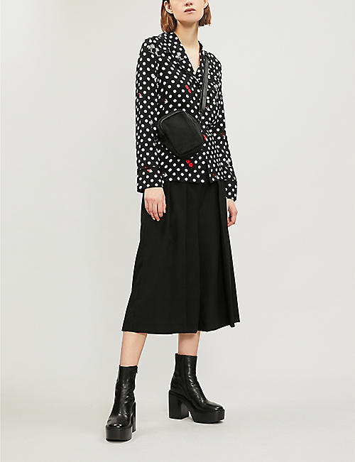 MCQ ALEXANDER MCQUEEN Polka dot-patterned woven shirt