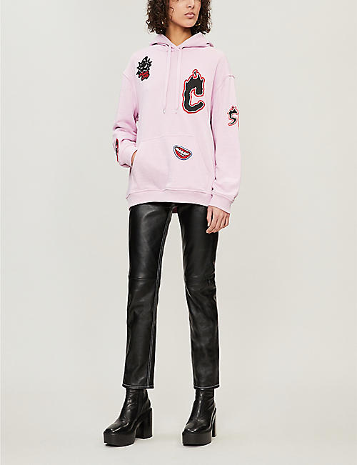MCQ ALEXANDER MCQUEEN Patch detail cotton-blend hoody
