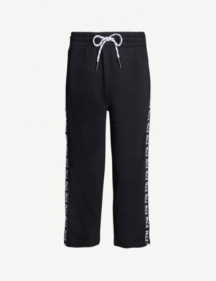 MCQ ALEXANDER MCQUEEN Cropped logo cotton-jersey jogging bottoms