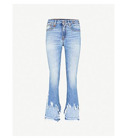 29dfc9e6701 R13 - Kick shredded-hem slim-fit mid-rise jeans   Selfridges.com