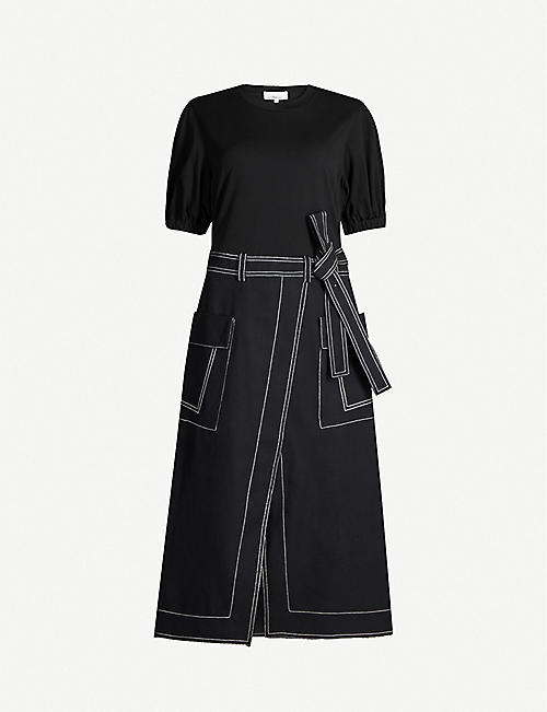 3.1 PHILLIP LIM Scoop-neck cotton and wool-blend midi dress