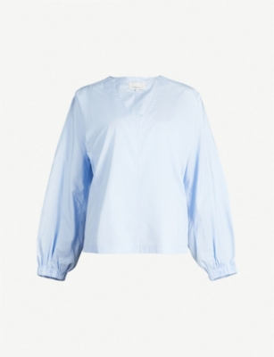 3.1 PHILLIP LIM Blouson-sleeve cotton top