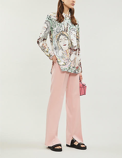 3.1 PHILLIP LIM High-rise stretch-twill wide-leg trousers