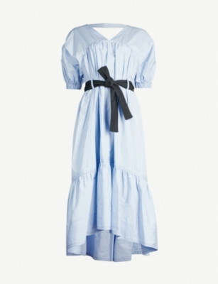 3.1 PHILLIP LIM Tiered gathered cotton-poplin midi dress