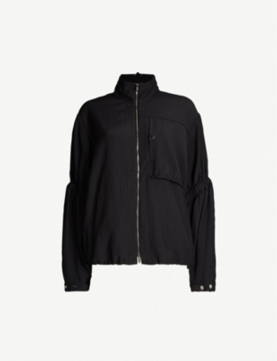 3.1 PHILLIP LIM Asymmetric cinched-sleeve anorak jacket