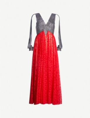 CHRISTOPHER KANE Crystal-embellished lace dress