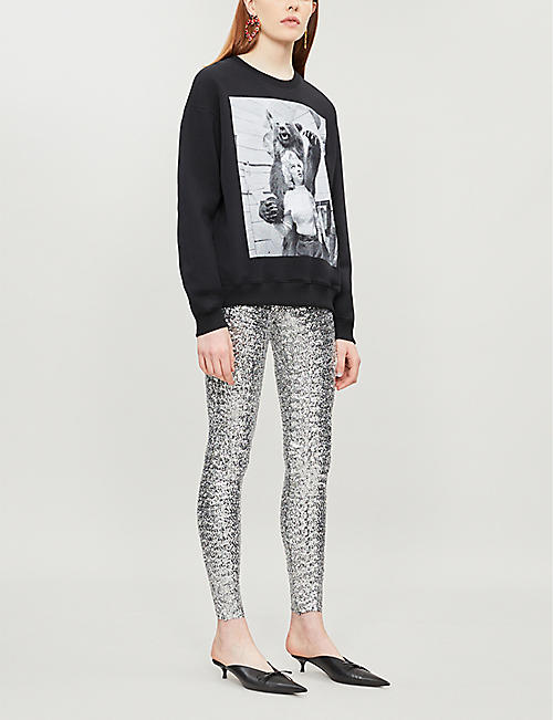 CHRISTOPHER KANE Marilyn graphic-print cotton-jersey hoody