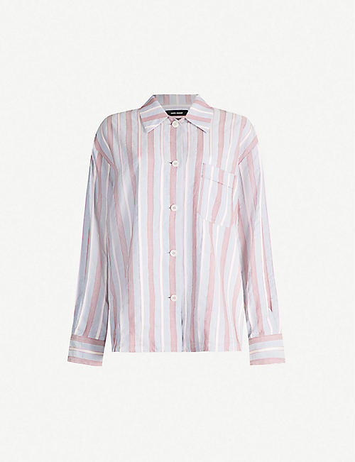 ISABEL MARANT Venice striped relaxed-fit cotton-jersey shirt