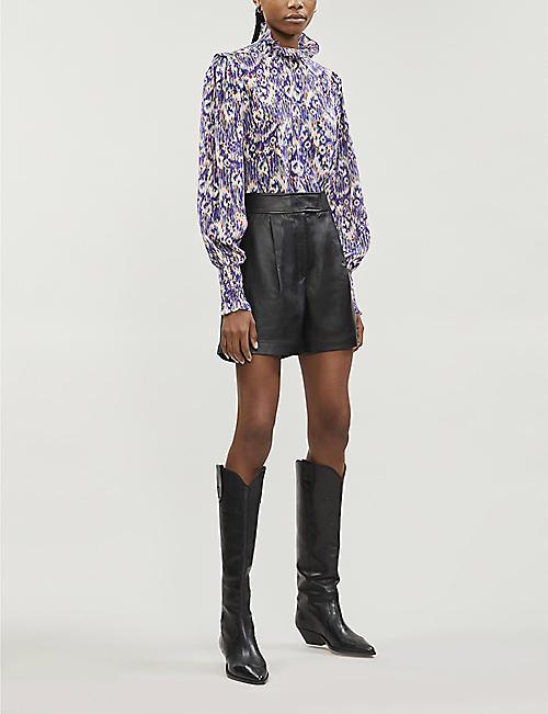 ISABEL MARANT ETOILE Yoshi abstract-pattern relaxed-fit silk blouse