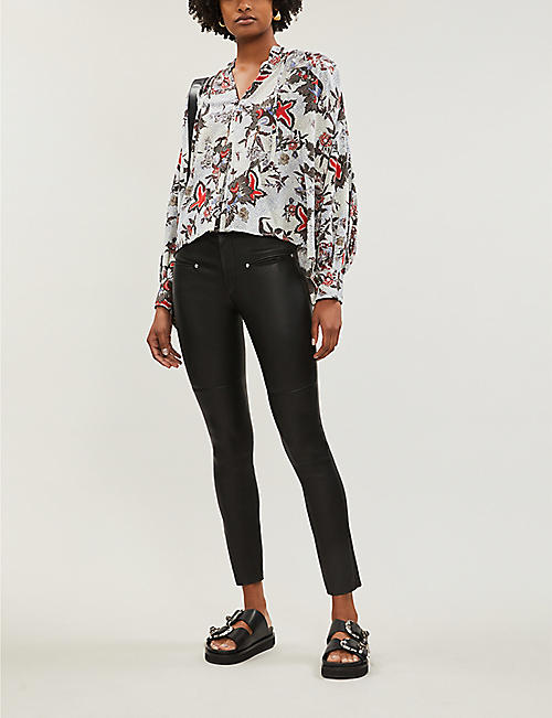 ISABEL MARANT Eydie skinny leather trousers