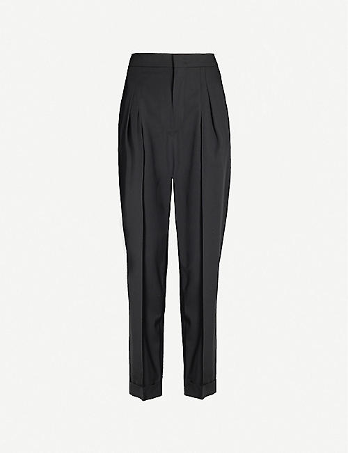 ISABEL MARANT Pelisso tapered wool trousers