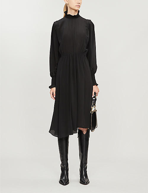 ISABEL MARANT ETOILE Yescott high neck silk midi dress