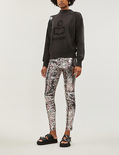 ISABEL MARANT ETOILE Moby high-neck cotton-blend jersey sweatshirt