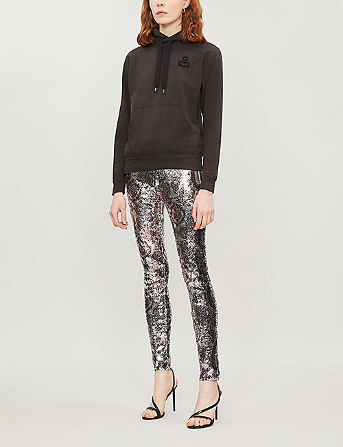 ISABEL MARANT ETOILE Malibu logo-embroidered cotton-blend hoody