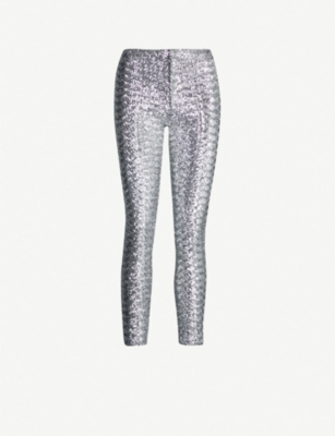 ISABEL MARANT Odiz skinny high-rise sequinned trousers