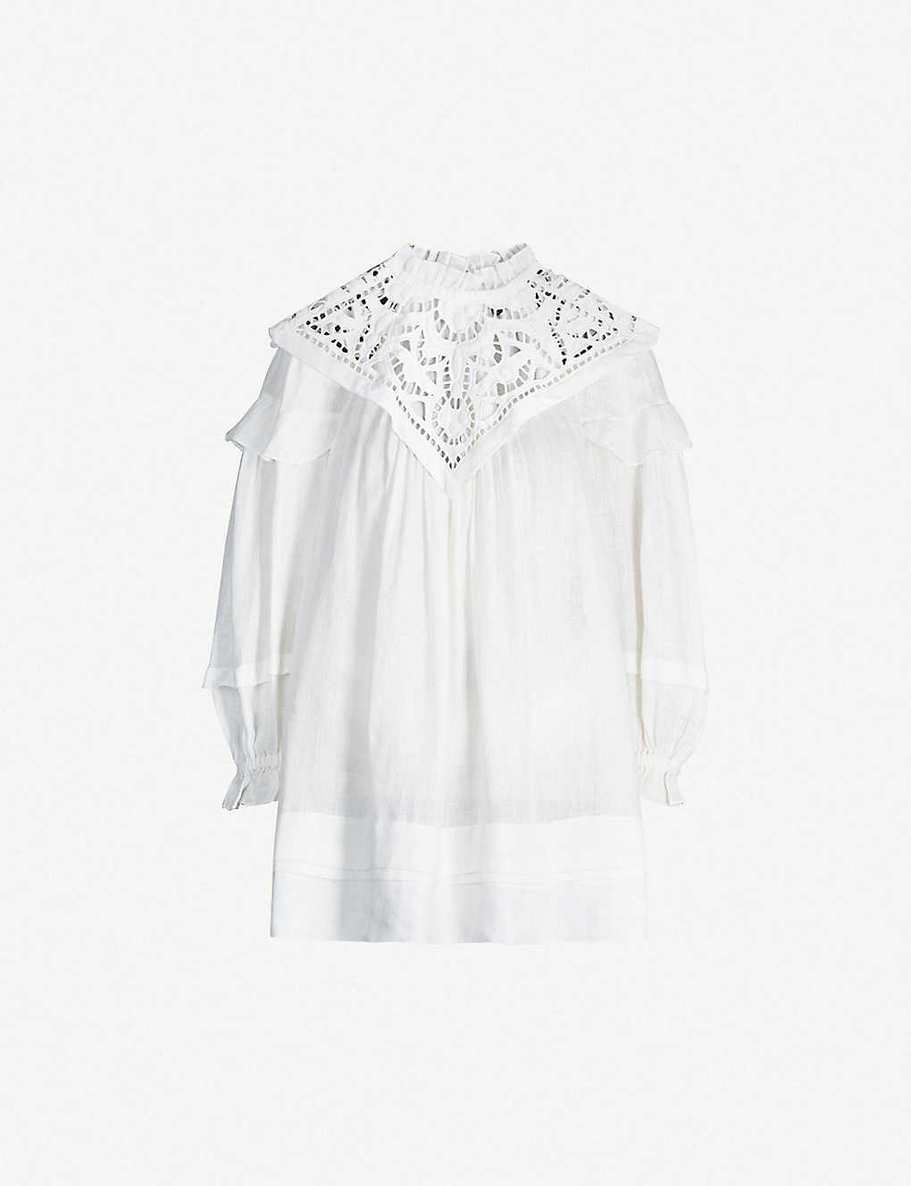 006eac4e556 ISABEL MARANT - Galia embroidered-panel linen mini dress ...