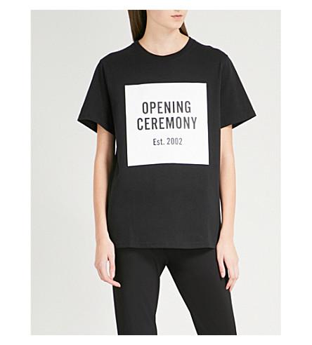 05d5c363 OPENING CEREMONY - Logo-print cotton-jersey T-shirt   Selfridges.com