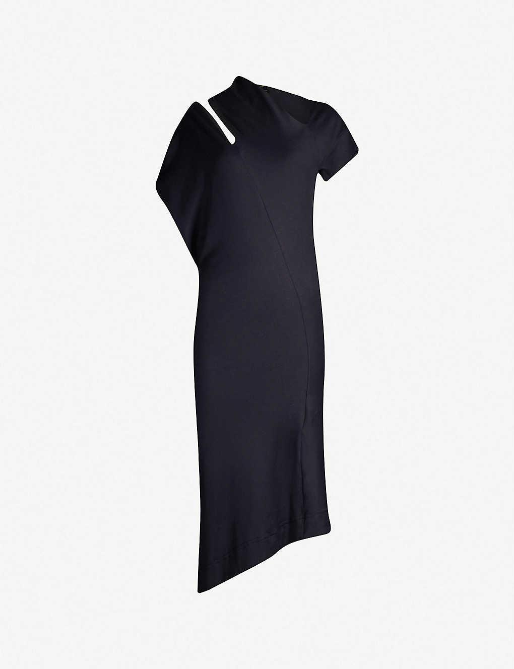 b84f7efd8e9 VIVIENNE WESTWOOD ANGLOMANIA - Cold-shoulder asymmetric cotton dress ...