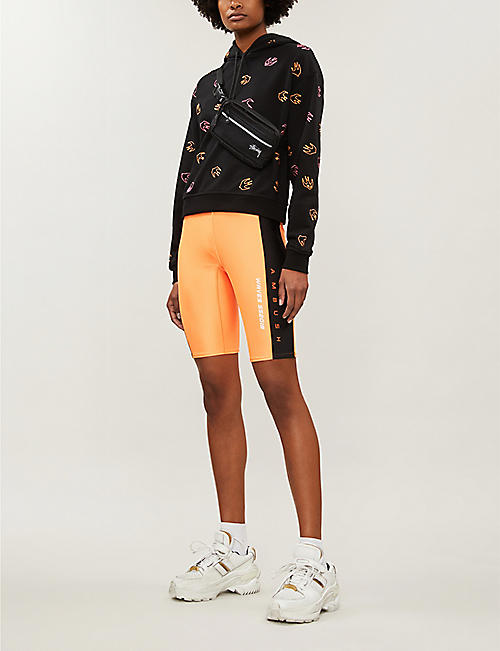MCQ ALEXANDER MCQUEEN Swallow-embroidered cotton-jersey hoody