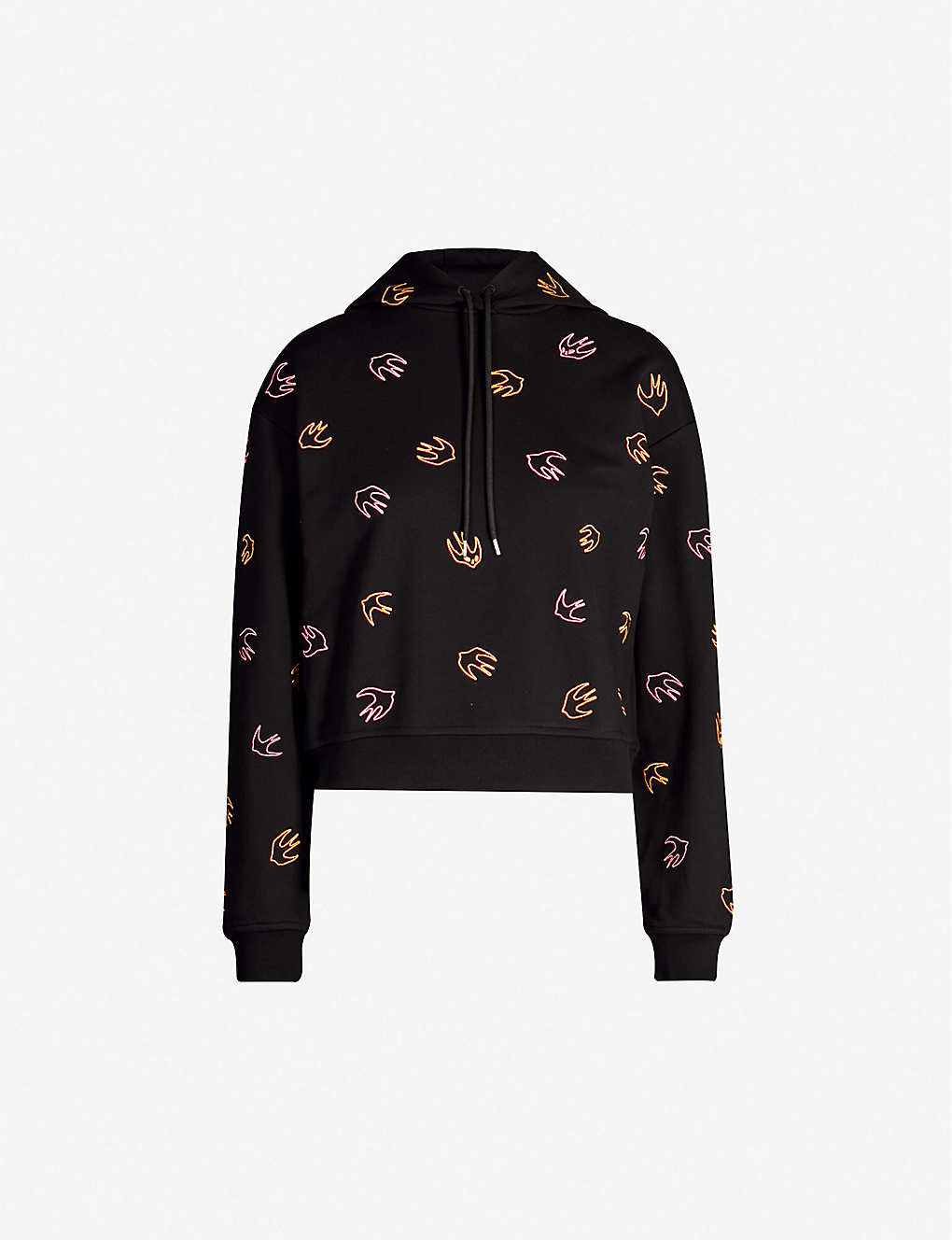1e05a2ed MCQ ALEXANDER MCQUEEN - Swallow-embroidered cotton-jersey hoody ...