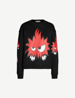 MCQ ALEXANDER MCQUEEN Psycho Billy cotton-jersey sweatshirt
