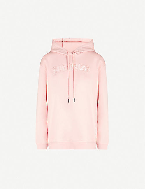 MCQ ALEXANDER MCQUEEN: Embroidered cotton-jersey hoody