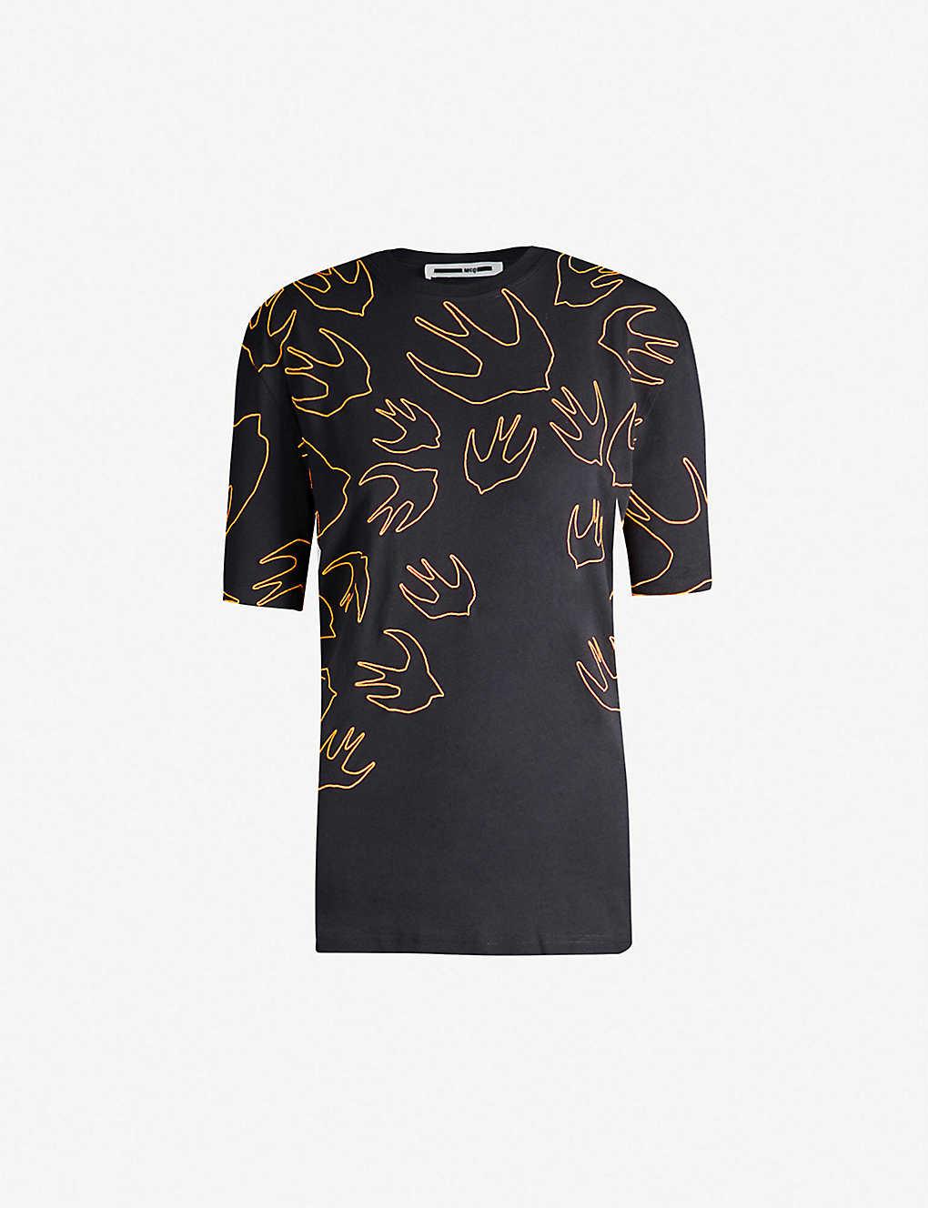 fd3480d89ab2e3 MCQ ALEXANDER MCQUEEN - Graphic logo-print cotton-jersey T-shirt ...