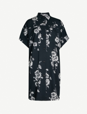 MCQ ALEXANDER MCQUEEN Floral-print oversized woven shirt dress