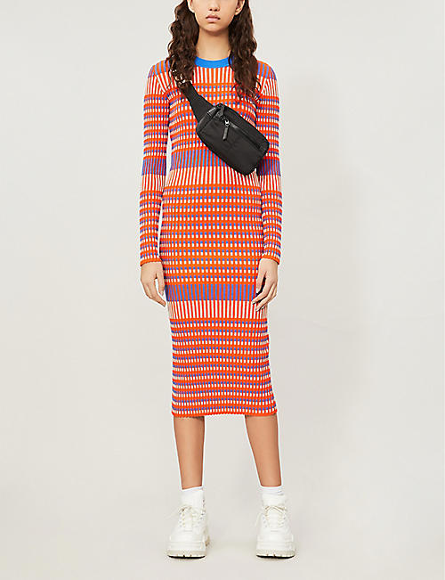 MCQ ALEXANDER MCQUEEN Striped knitted dress